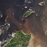 Today's Image of the Day from NASA Earth Observatory shows what happens when the river meets seawater in Rupert Bay, Quebec.