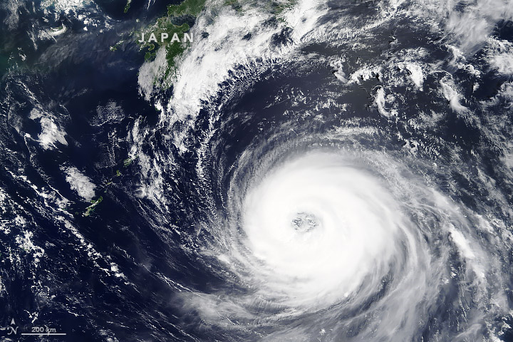 Today's Image of the Day from NASA Earth Observatory shows Typhoon Soulik as it approached Japan on Monday