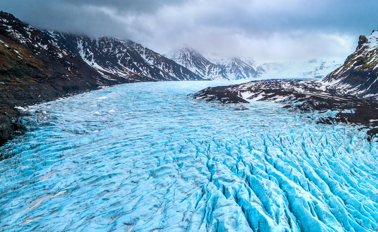 Glaciers initially seem barren of any sort of life, but some actually contain worms living inside chunks of ice.