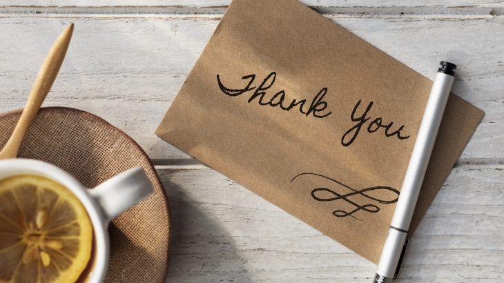 New research shows that the simple act of writing a thank you note it can be beneficial both to the recipient and the writer.