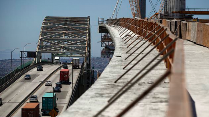 The bridge is currently under construction in Long Beach and will include about 75 seismic sensors that can measure the earthquake forces.