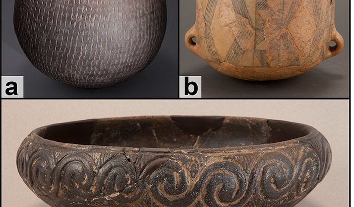 Researchers from Penn State have discovered pottery remnants that once contained fish, meat, and cheese as far back as 5,200 BCE.