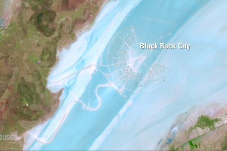 Today's Video of the Day from the U.S. Geological Survey features the site of the Burning Man, the largest outdoor arts festival in North America, as it appears from space.