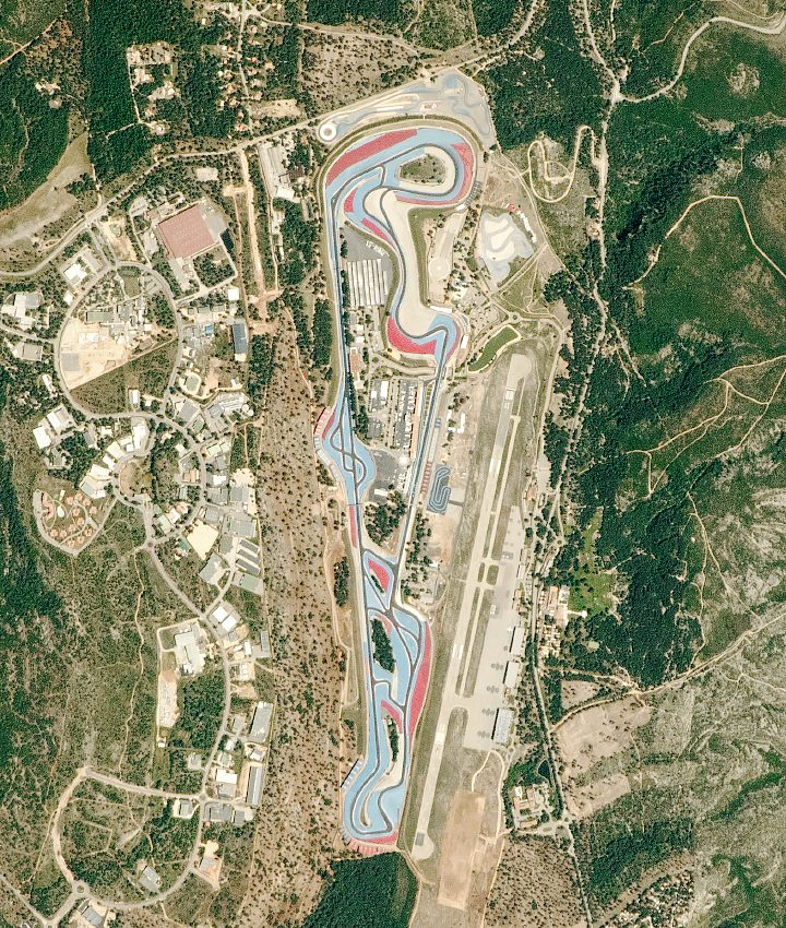 Today's Image of the Day from NASA Earth Observatory features a remarkable view of the Circuit Paul Ricard, a motorsport race track in southeastern France.