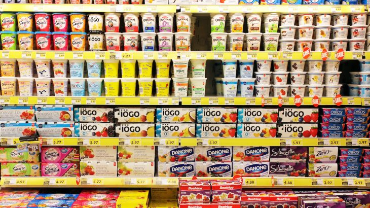 A number of yogurt products, especially those marketed to children, often contain high sugar and fat contents.