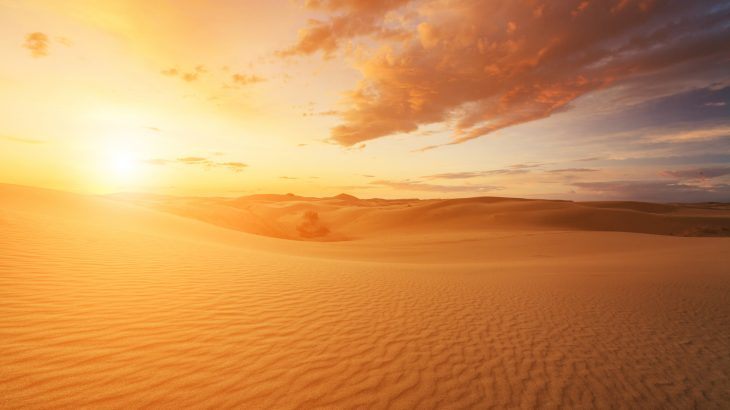 Sunlight absorption by methane is 10 times stronger over desert regions such as the Sahara Desert than elsewhere on Earth.