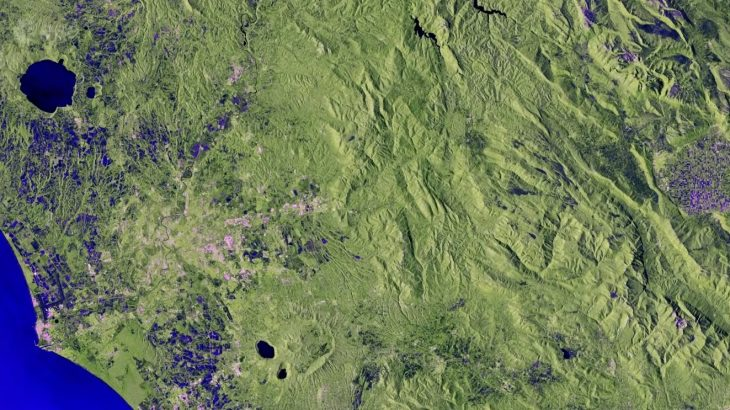Today's Video of the Day from the European Space Agency features a striking view of Central Italy from space.