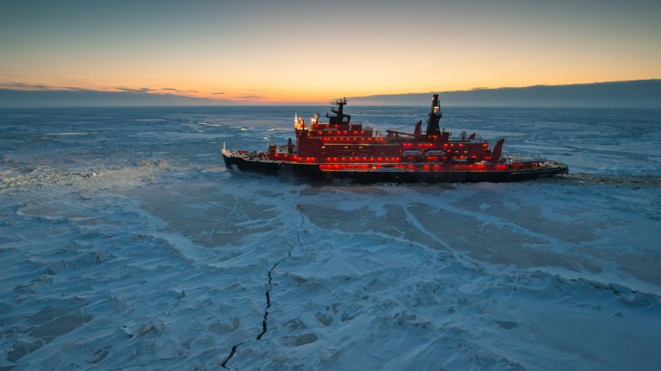 Melting ice in the Arctic has opened up shipping routes and made it easier for ships to navigate the once ice-covered seas.