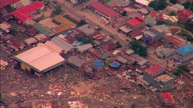 Rescue workers are desperately looking for survivors after a 7.5-magnitude earthquake triggered a devastating tsunami.