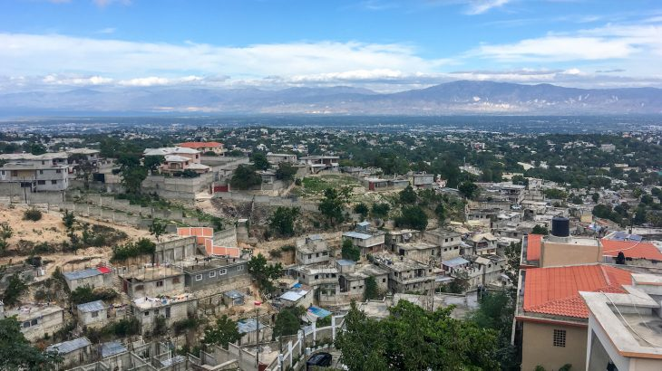 A 5.9 magnitude earthquake struck near Haiti on Saturday night about 12 miles northwest of the city of Port-de-Paix.