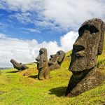 A team of archaeologists believe that the ancient inhabitants of Easter Island may have used the stone heads to mark sources of fresh water.