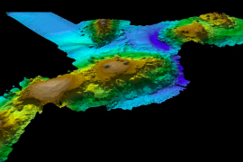 "A research expedition has discovered a ""lost ocean world"" of underwater volcanoes about 250 miles off the coast of Tasmania."