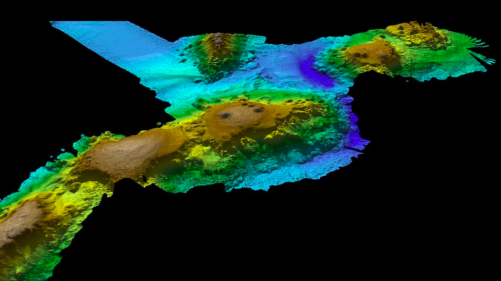 """A research expedition has discovered a """"lost ocean world"""" of underwater volcanoes about 250 miles off the coast of Tasmania."""