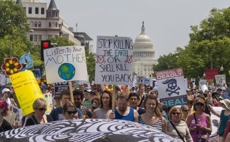 Environmental groups are targeting political figures who question climate science to get more voters thinking about climate change.