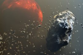 The theory of panspermia suggests that life itself can be transferred through asteroids and other space objects.