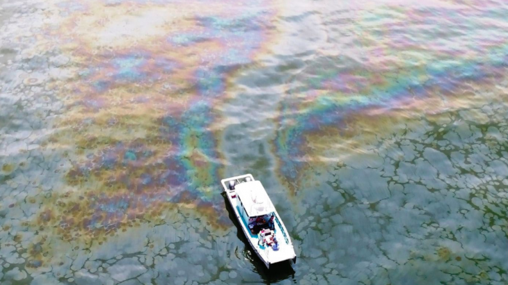 An oil spill has been steadily dumping oil into the Gulf of Mexico since 2004, when a mudslide buried an offshore platform.