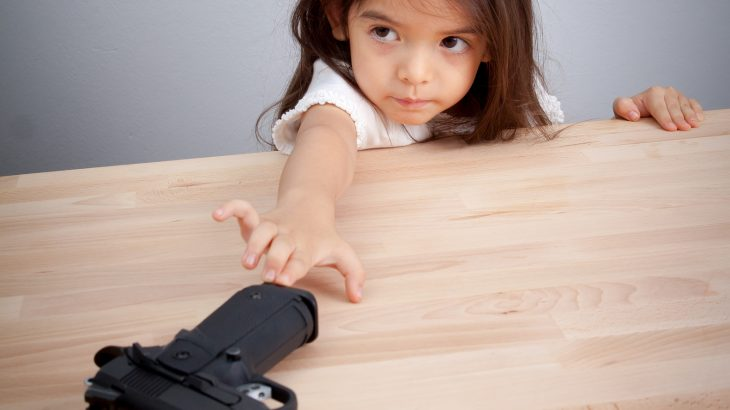 A recent survey of parents found that most were confident their children could distinguish between a real gun and a toy gun.