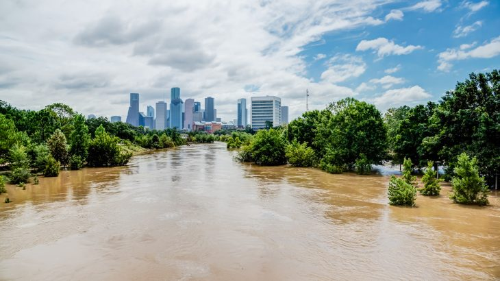 Houston's urban buildup directly contributed to the massive damage caused by category 4 Hurricane Harvey in August 2017.