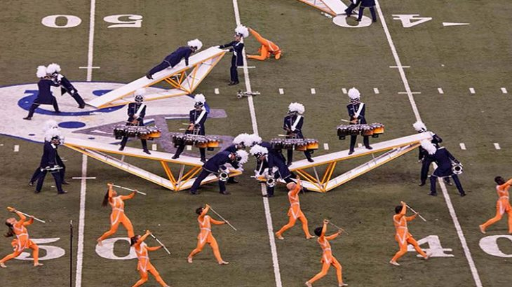 A new study of the Bluecoats Drum and Bugle Corps has revealed that musicians have better visual timing than members of the color guard.