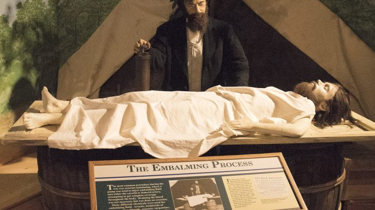During the Civil War, the deaths of unprecedented numbers of soldiers led to new approaches to preserving the body like embalming.