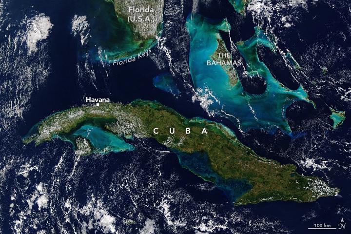 Straße von Florida | Bildquelle: Bild-Quelle: cff2.earth.com © Modis/Terra/Nasa | Bilder sind in der Regel urheberrechtlich geschützt