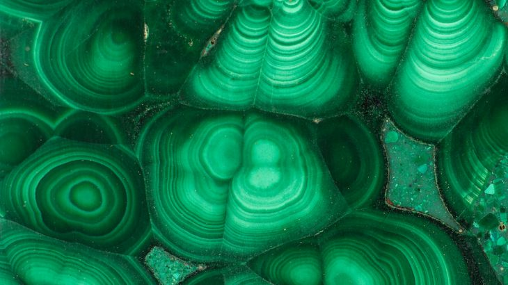 The concentric rings of malachite mesmerized the ancients, who accorded the mineral with a magical significance.