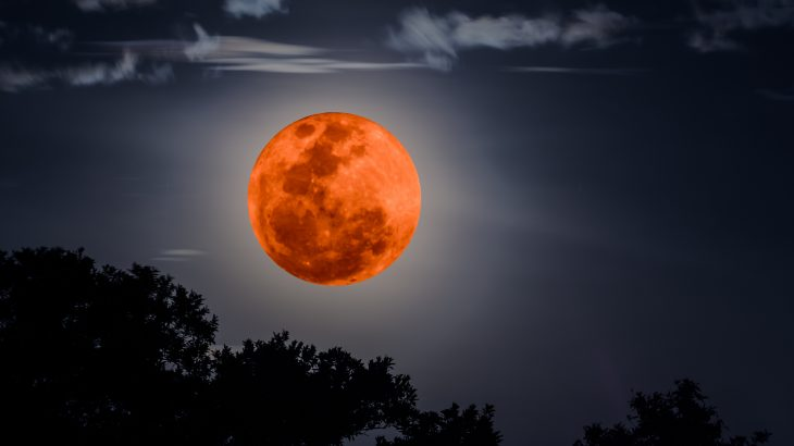 On the night of January 20-21, there will be a full moon in total lunar eclipse. At this time, the moon will have a red glow.