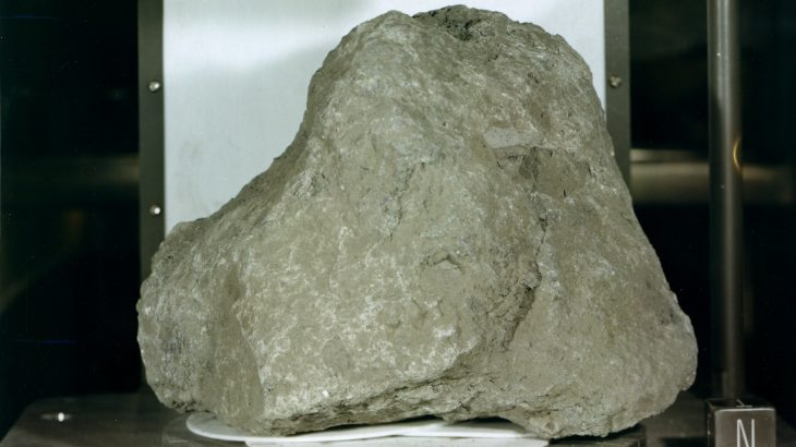 Astronauts may have found a piece of the Earth among moon rocks that were carried back during the Apollo 14 mission.