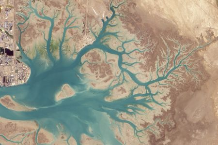 Today's Image of the Day comes from the NASA Earth Observatory and features an overhead look at Musa Bay, Iran as seen from space.