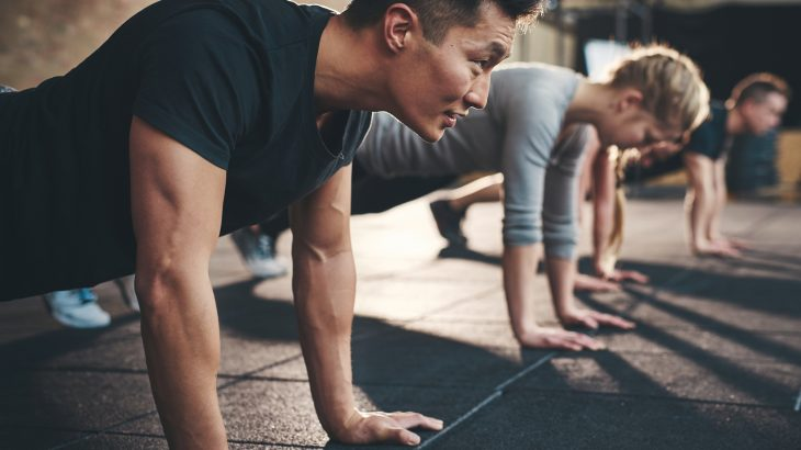 Active, middle-aged men able to complete more than 40 push-ups have significantly fewer complications associated with cardiovascular disease.