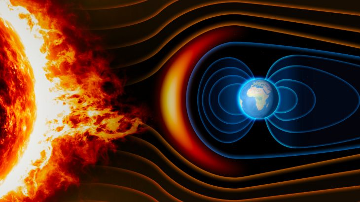 Researchers have measured how energy is transferred from electromagnetic fields in space to the particles that make up solar wind.