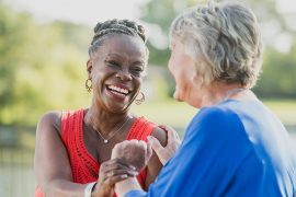 Having an active social life and interacting with a wide range of people increases physical activity and emotional well-being among older adults.