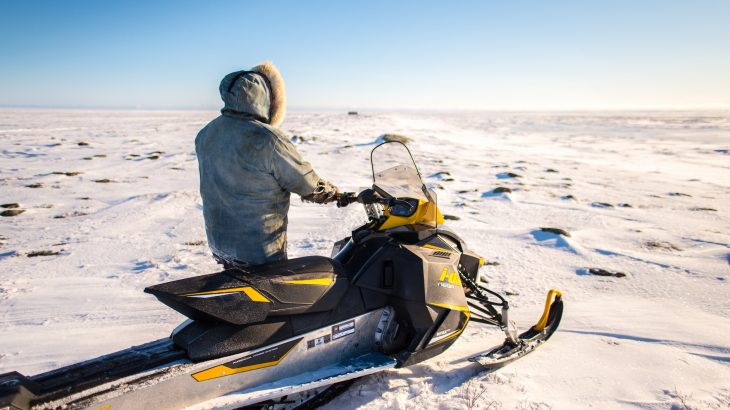 The trails used by Indigenous Arctic communities to navigate on sea-ice, rivers, and frozen ground are critically important for travel between settlements.