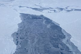 The 2019 Arctic ice extent is tied with 2007's as the 7th smallest extent of all time, peaking 332,000 square miles below the 1981 to 2010 average maximum.
