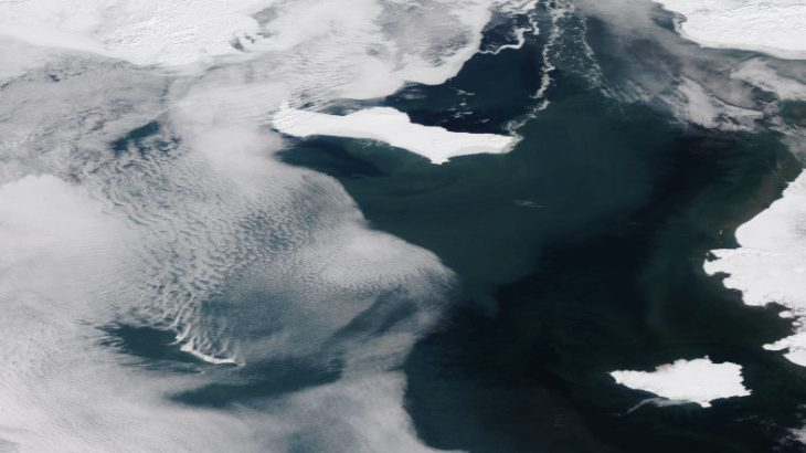 A new report from the National Oceanic and Atmospheric Administration (NOAA) has revealed that the Bering Sea is nearly free of ice at a time when it is usually covered.