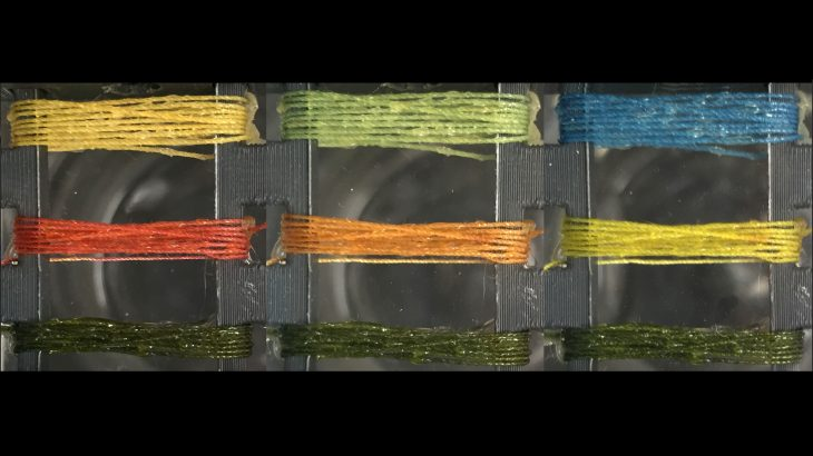 A team of engineers at Tufts University has created dyed threads that are designed to change color when they detect a variety of gases.