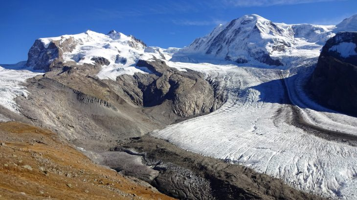 A new study is predicting that around half of the ice glacier volume in the Alps will be lost between the years 2017 and 2050.