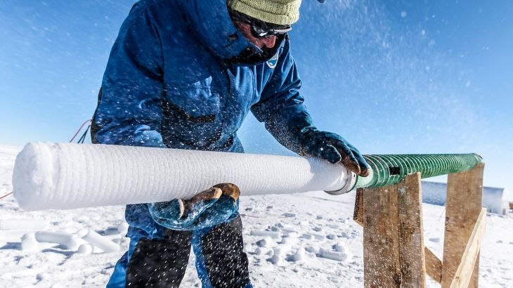 An international team of researchers is working to obtain Antarctic ice cores that hold a historical record of the climate over the past 1.5 million years.