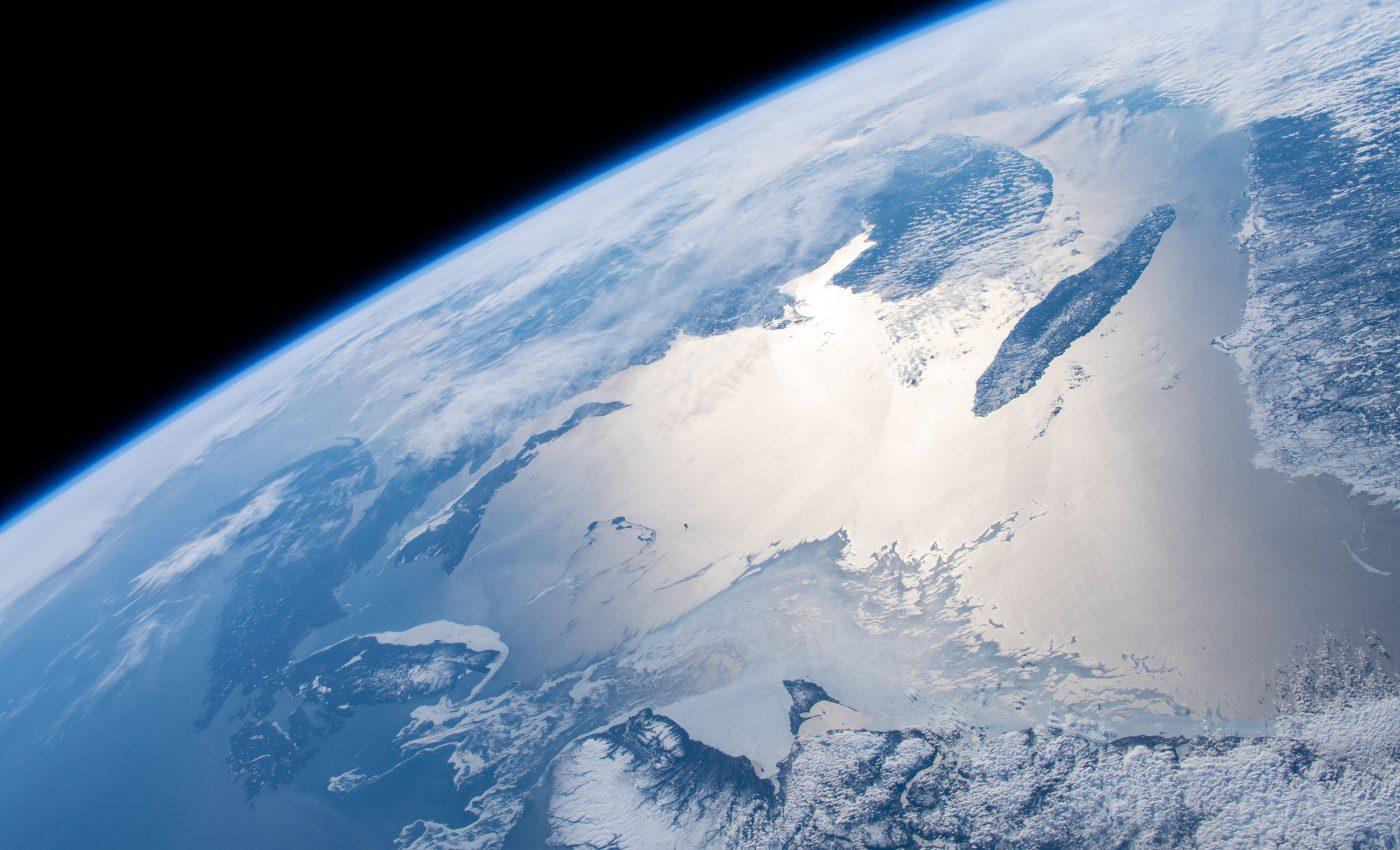 Today's Image of the Day from NASA features a remarkable view of the Earth from the International Space Station (ISS) as it passed more than 250 miles above the North Atlantic Ocean.
