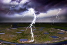 A new study revealed that the negative charges inside of a thundercloud are not all discharged in a single flash. Instead, some are stored inside structures that the experts refer to as needles.