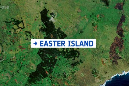 Today's Video of the Day from the European Space Agency features Easter Island, which was named on Easter Sunday when Europeans arrived in the 1700s.