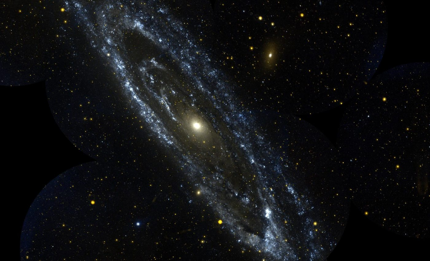 Today's Image of the Day from NASA features the Andromeda Galaxy, also known as Messier 31, which is located 2.5 million light-years from Earth.