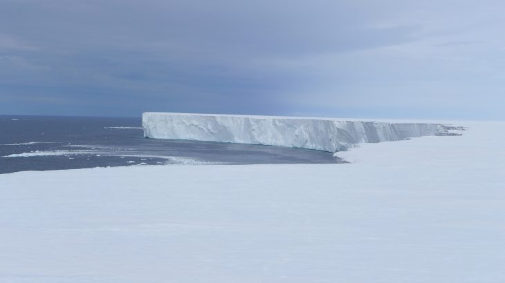 The Ross Ice Shelf in Antarctica is the largest ice platform in the world, covering an area about the size of France.