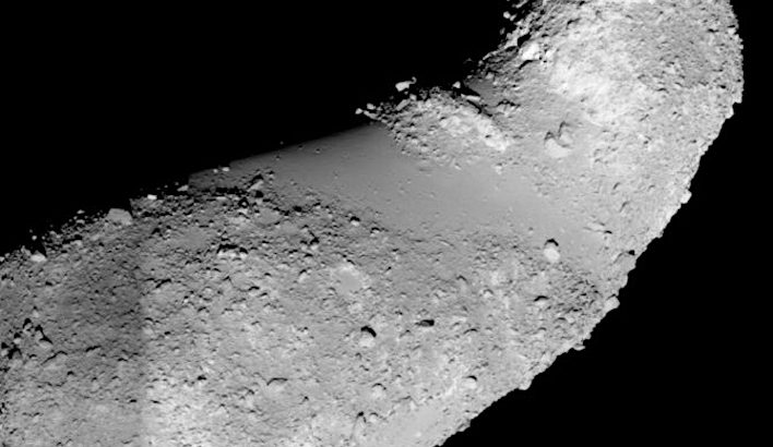 The presence of water on the asteroid surface suggests that similar asteroids could have delivered as much as half of Earth's ocean water at the very beginning of our planet's history.