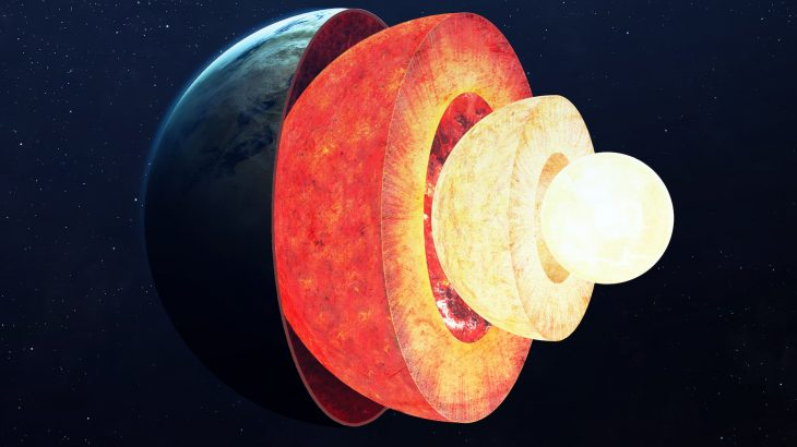 Despite the extremely high temperatures and constant churning movement, a new study has found that Earth's viscous outer core forms distinct layers, like a salad dressing that separates.