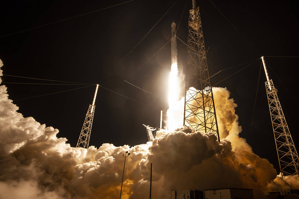 Today's Image of the Day from NASA shows SpaceX's Dragon as it lifted off on a Falcon 9 rocket from Cape Canaveral Air Force Station on Saturday, May 4.