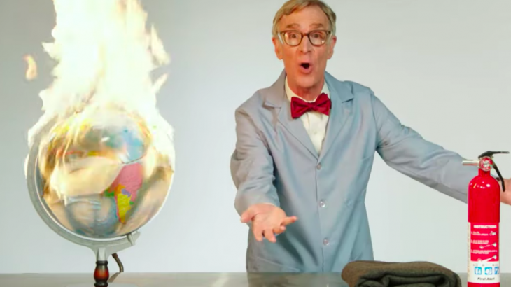 Bill Nye the Science Guy abandoned his typical mild-mannered TV personality to deliver a profanity-fueled speech about the world's failure to address climate change.