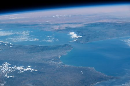 Today's Image of the Day from NASA features a view from the International Space Station (ISS) as it orbited 257 miles above the Atlantic Ocean.