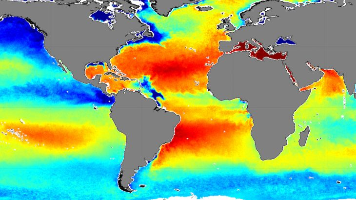 Years of satellite data help map ocean salinity levels ...