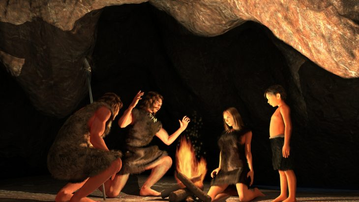 New research suggests that Stone Age families explored caves for fun, crawling on their hands and feet with wooden torches.